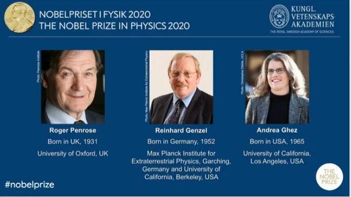 برندگان جایزه نوبل فیزیک 2020 معرفی شدند